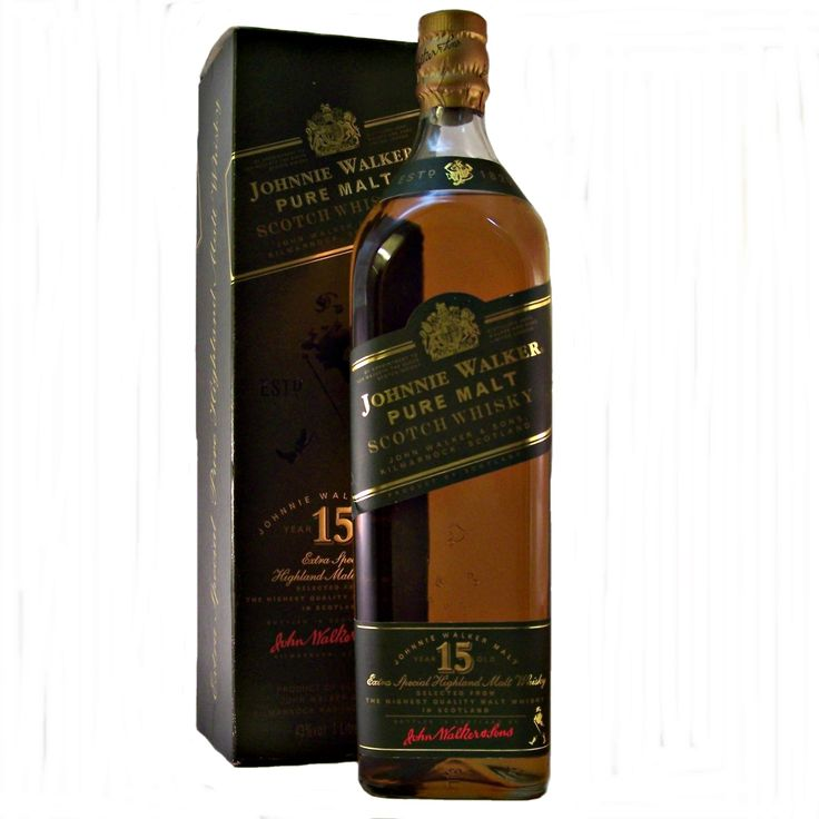 Johnnie Walker Green Label discontinued 1980's or 1990's bottling of Extra Special Highland Blended Malt Whisky aged 15 years