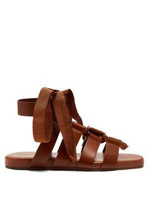 Wraparound gladiator leather sandals | Jil Sander | MATCHESFASHION.COM