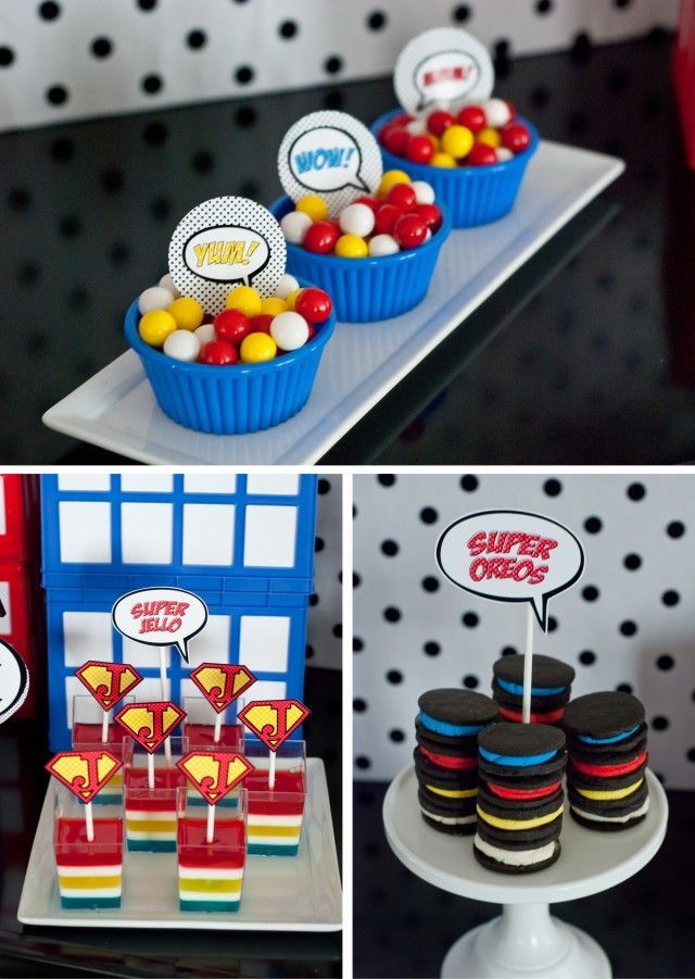 Awesome super hero candy #party #ideas