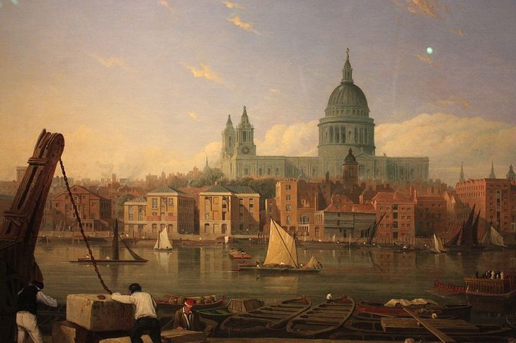 Thomas Miles Richardson, The City from Bankside (c. 1820) -