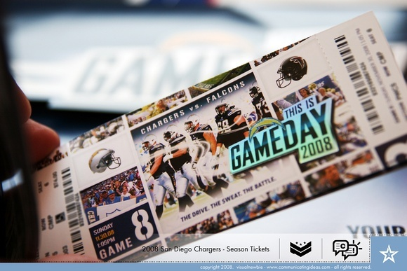 2008 San Diego Chargers Tickets