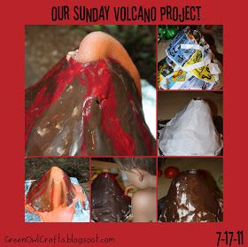 green owl crafts: { our sunday volcano project }
