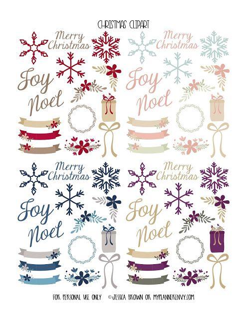 Tons of Random Cute Clip Art Stickers - Free Planner Printable