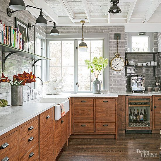 Industrial Meets Rustic Personalize Your Kitchen With A Mix Of Materials That Gives This New Kitchen A
