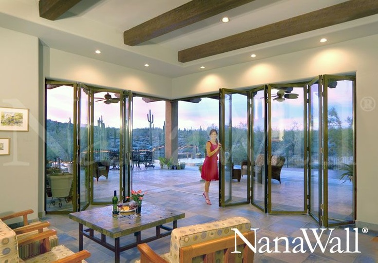 Love Glass Accordion Doors!: Glass Doors, Outdoor Living, Glasses, Living Spaces, House Ideas, Dream House, Glass Walls