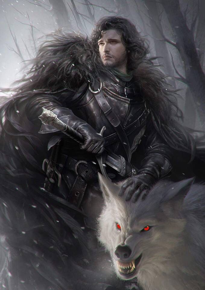 Jon Snow et Ghost - Game of thrones