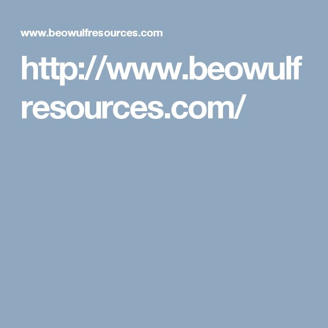 http://www.beowulfresources.com/