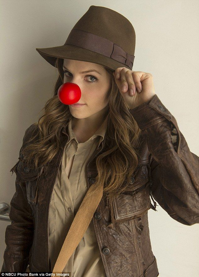 Hamming it up: Anne Kendrick took it to the next level by dressing as Indiana Jones