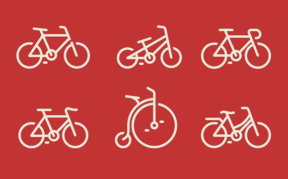 Today's freebie is a small icon set containing six bicycle models. Free PSD designed by Nick Zhukov.
