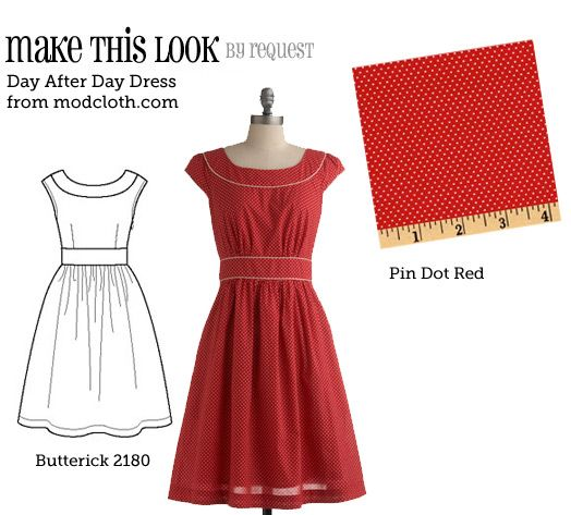 Make this look: Polka Dots, Sewing Projects, Cute Dresses, Make Dresses, Day Dresses, Sewing Machine, Dresses Patterns, Sewing Patterns, Modcloth Dresses