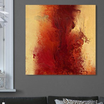 """Latitude Run 'The Road to Emmaus, Deuteronomy 4:12' Painting Print on Wrapped Canvas Size: 36"""" H x 36"""" W"""
