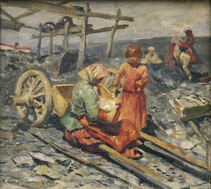 Nikolai Alexejewitsch Kassatkin (Russian, 1859 - 1930) 'zborov vuglia'-1894
