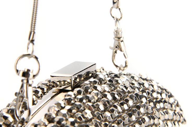 Beaded Oval Handbag