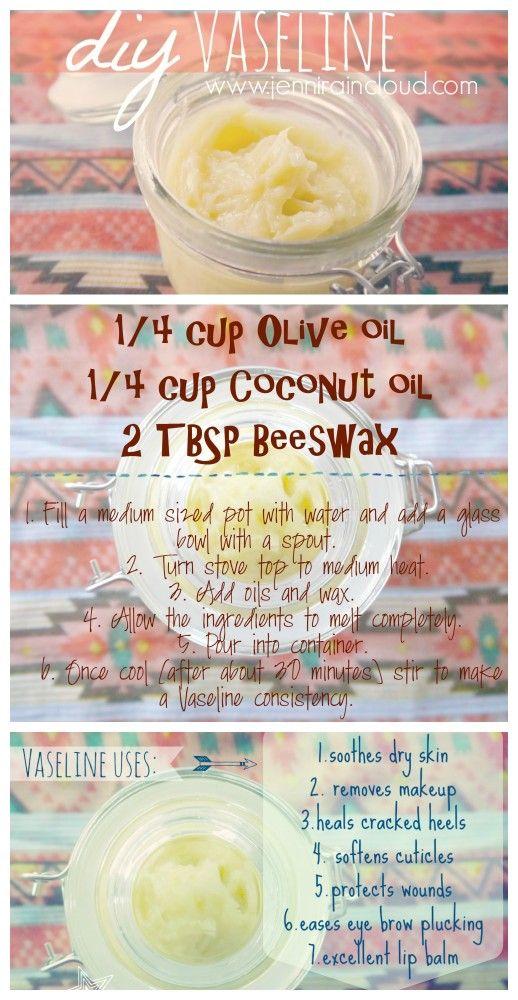 DIY Vaseline-Make your own homemade Vaseline free from harmful chemicals like petroleum!