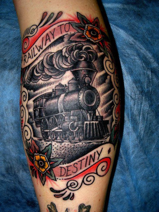 18 Roaring Train Tattoos