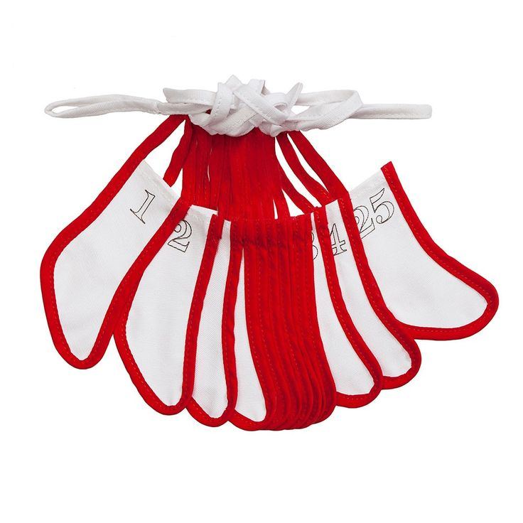 This festive doodle bunting features 25 mini stockings which can be