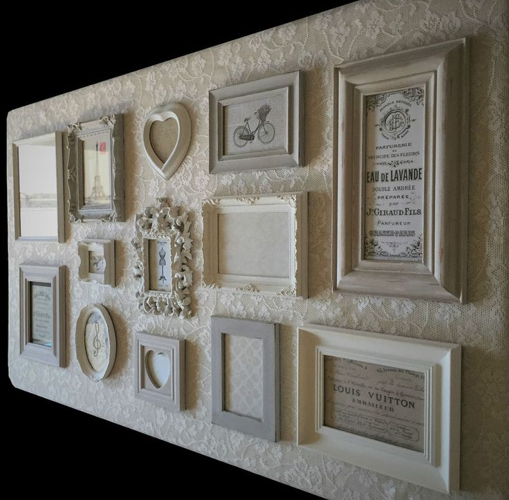 French Country/Vintage/Shabby Chic Picture/Photo Frame Set Neutral Gallery Wall | eBay