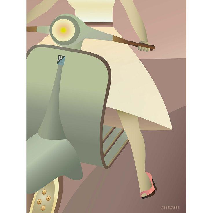 Vespa Poster fra ViSSEVASSE - Fri Fragt på Decorateshop.dk  ⎢ Decorate Shop