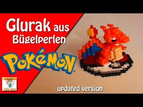 DIY Glurak - Charizard 3D Bügelperlen Tutorial - Perler Bead - YouTube