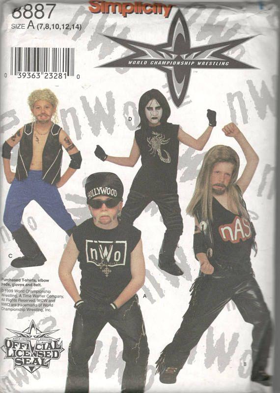 Simplicity 8887 Boys World Championship Wrestling Costume