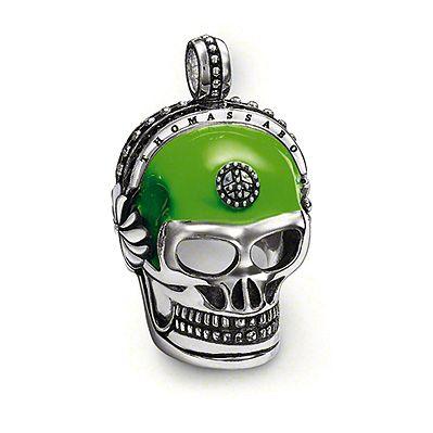 Thomas Sabo Green Skull Pendant PE386-041-6