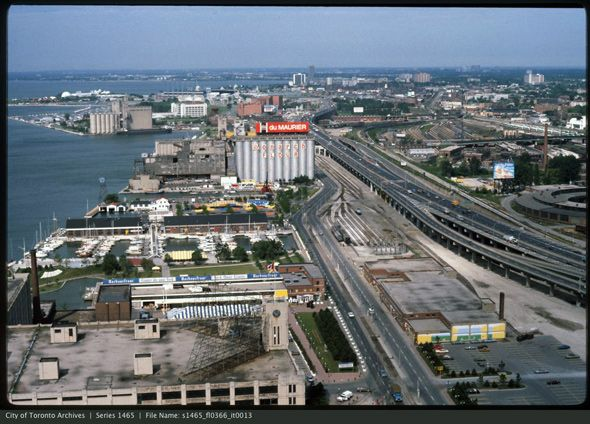 What Queen's Quay looked like before the condos