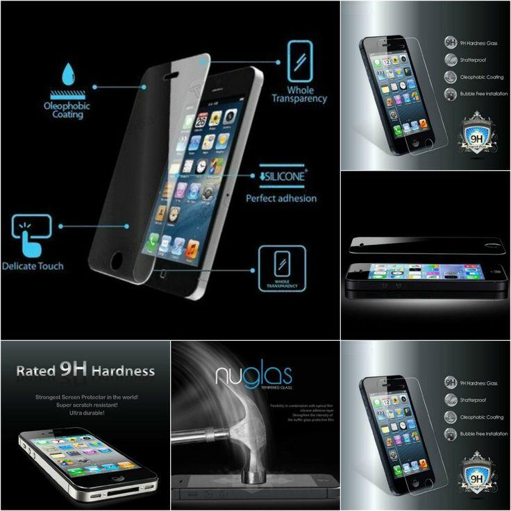 Clear Screen Protector iPhone 5 5S Premium Tempered Glass #screenprotector #iphone5 #premium #cellz #accessories #temperedglass
