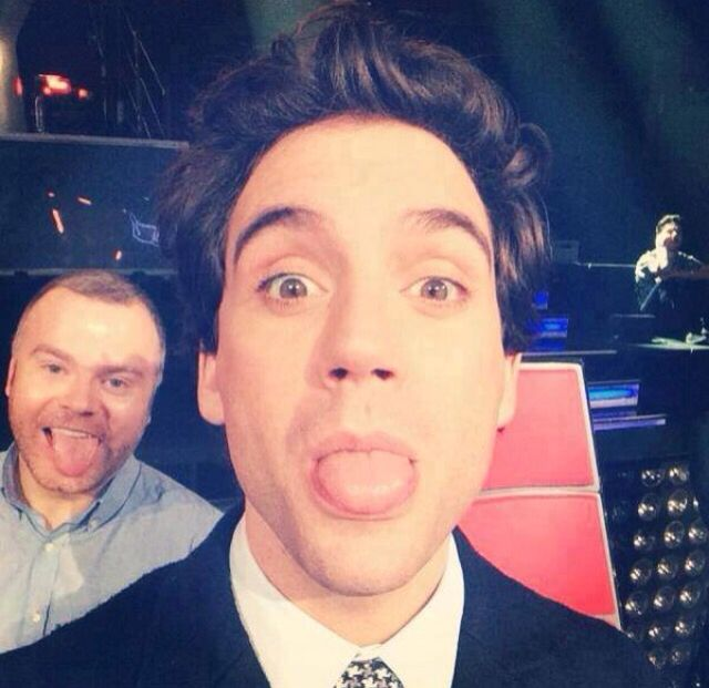 Selfie at the voice Francia.