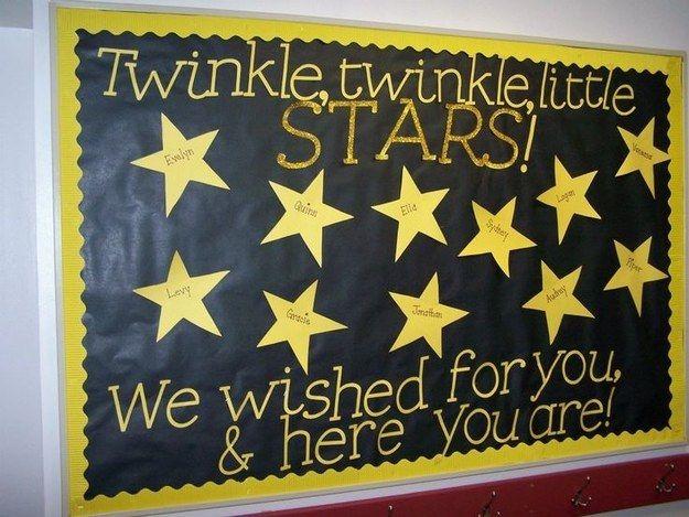 A Class Full of Stars: My back to school bulletin board!!! LOTS of amazing bulletin board ideas...