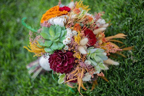 Wedding Bouquet Fall Wedding BouquetBridal Bouquet Bohemian