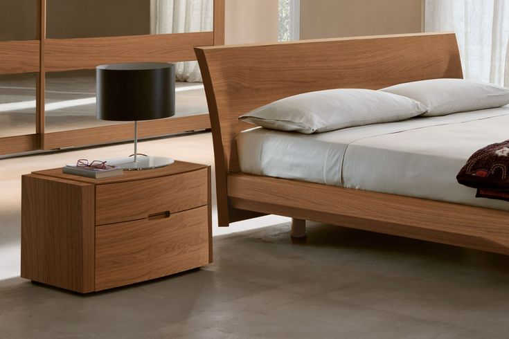 Camera da letto completa in noce canaletto 104 - comodino Elti | Napol.it