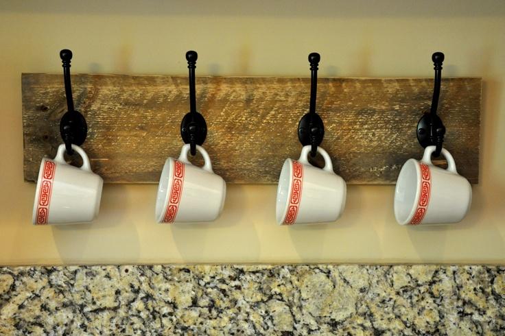 Pallet Coffee Mug Rack For The Home Pinterest Empty