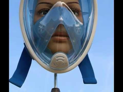 B06XJ63DBP  EZfull  Masque de Plongée, Toute la Face 180° Visible avec S...