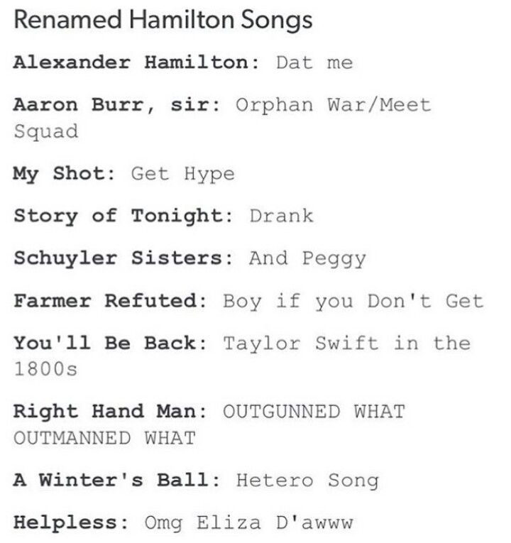Part 1 #hamilton #tumblr << THE FUCK DID THEY JUST COMPARED KING GEORGE III TO TAYLOR SWIFT??? UNACCEPTABLE