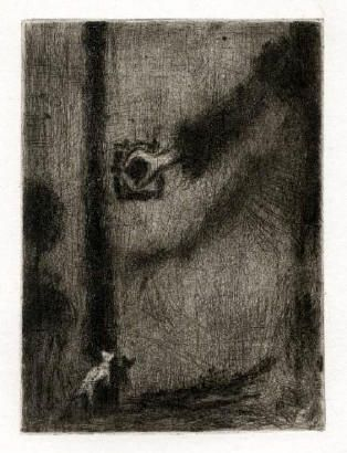 Bohuslav Reynek Ruka na klice / Hand on Handle suchá jehla / dry point 17 x 12,4…