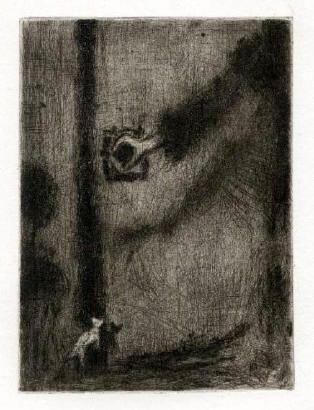 Bohuslav Reynek Ruka na klice / Hand on Handle suchá jehla / dry point 17 x 12,4 cm, otisk z původní desky, 60. léta