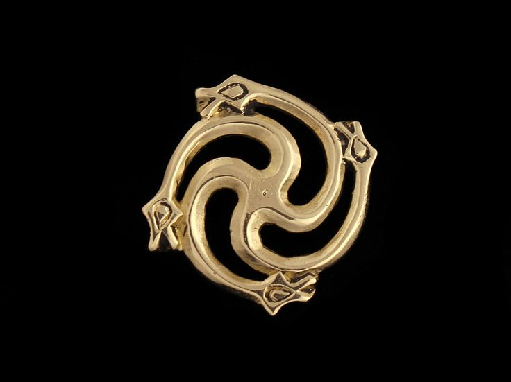 Viking Age Brooch with Serpents by RareCrafts on Etsy, $17.00