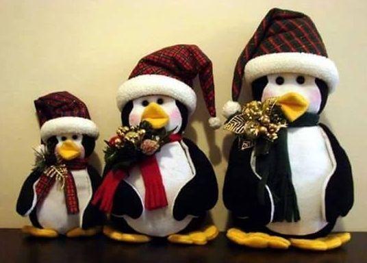 Moldes para hacer pinguinos de navidad y muñecos de nieve