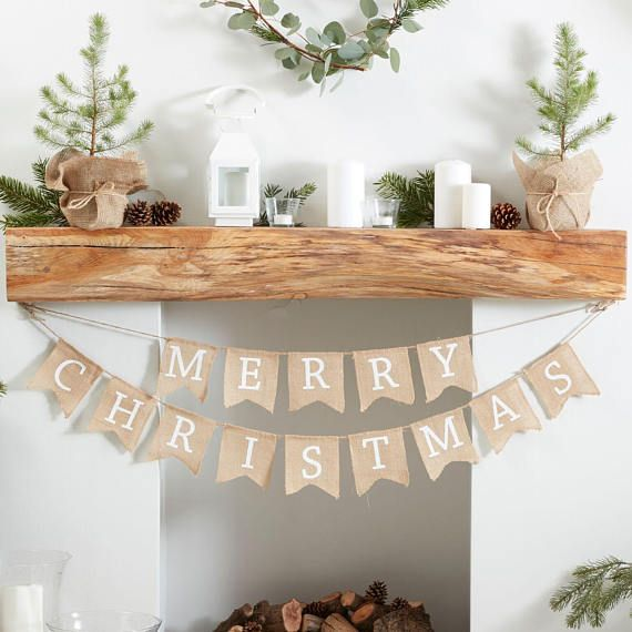 Christmas Bunting Hessian Merry Christmas Bunting Rustic