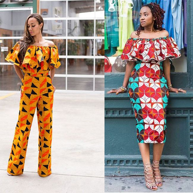 Model robe courte en pagne 2018