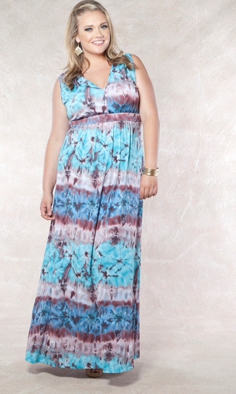 The perfect plus size maxi to pack and go, this dress is virtually wrinkle-free. Dress it up or dress it down! Wear it with wedges or flats. This is one style not to miss!