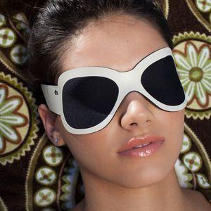 sleep stylishly in this Jackie O styled sleep mask