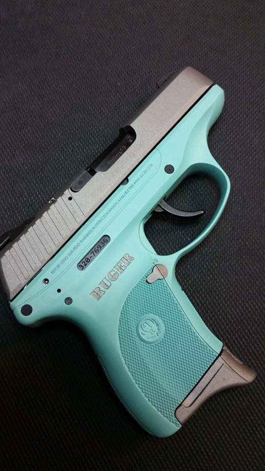 2 color Cerakote, Ruger LC9 - Tiffany and Stainless with color-fill