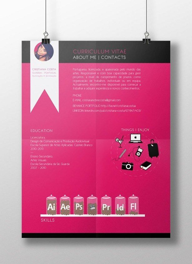 Artistic CV  Get Your Dream Job With These Creative Ideas To Make Your CV Awesome • Page 4 of 5 • BoredBug