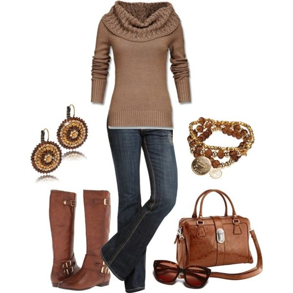 Casual Outfit: Gold Tones, Style, Fall Outfits, Winter Outfits, Fall Winter Outfit, Fall Fashion, Casual Outfits, Fashion Casual, Brown Outfit