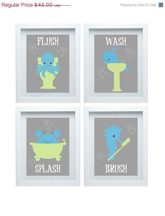 Bathroom art  Etsy