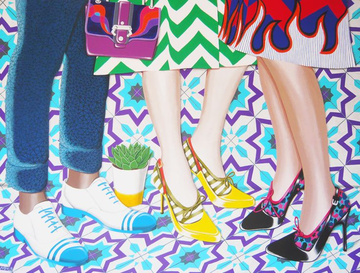 Fashion Party  acrylic on canvas  183x138 cm  2016