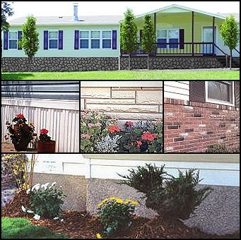 11 Skirting Choices shipped directly to your homesite. | Mobile Home Advantage