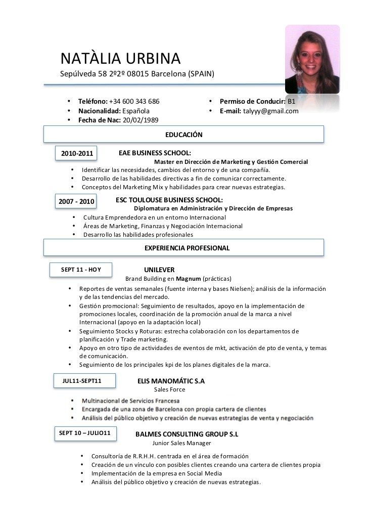 Resume Templates In Spanish  ResumeTemplates  3Resume Templates  Lpn resume Curriculum