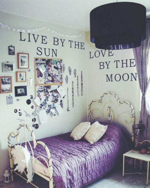 bedroom wall quote. Also, the room is perfect!